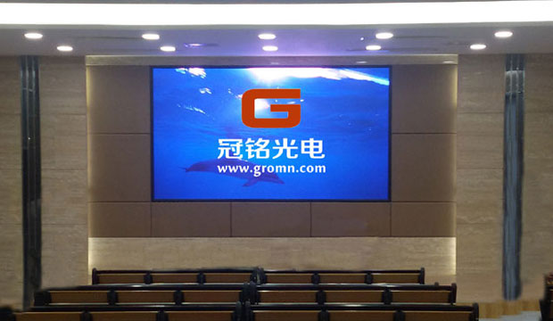 西安市第八十九中学电教室室内P3LED显示屏工程!